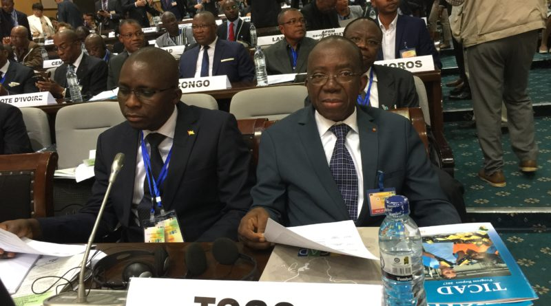 Le Ministre ASSIMAIDOU et le Chargé d'Affaires du Togo au Japon, Mr A. Kouakou SEDAMINOU