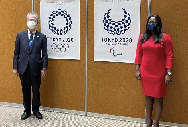 J.O. 2020 : AUDIENCE DE LA MINISTRE BESSI KAMA AVEC LE VICE-MINISTRE DES SPORTS DU JAPON